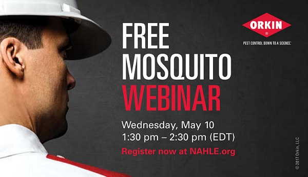 Free Mosquito Webinar - presented by Orkin and NAHLE - May 10, 2017
