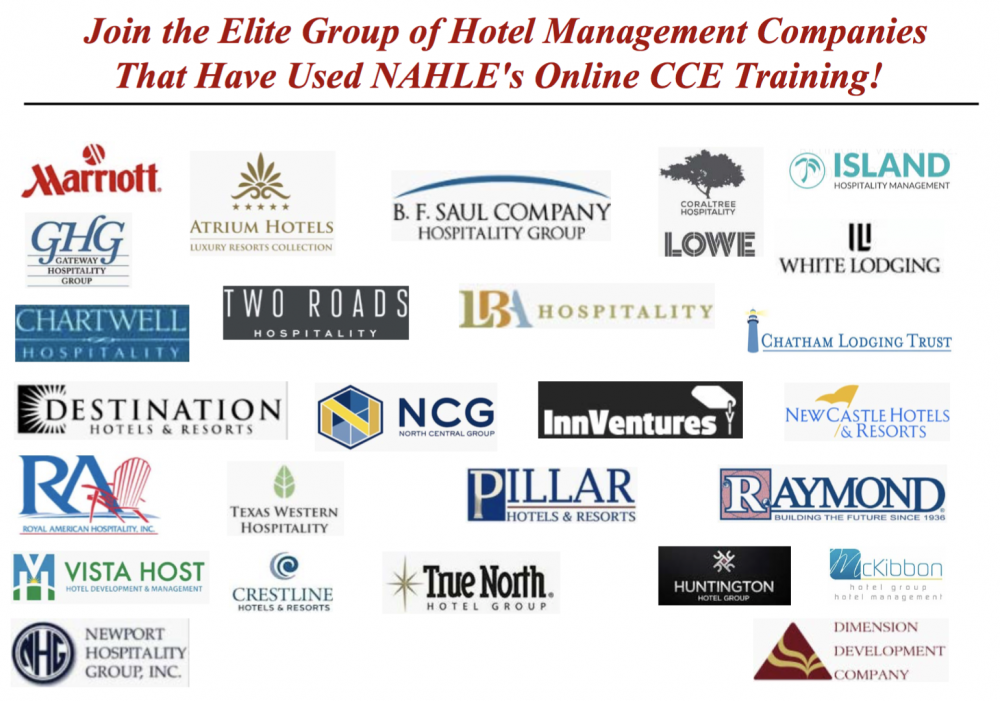 NAHLE WORKS WITH LEADING HOTEL MANAGEMENT COMPANIES